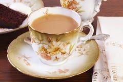 Copo da tarde do chá fotos de stock