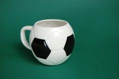 Copo dado forma futebol isolado Fotos de Stock Royalty Free