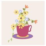 Copo das flores Fotos de Stock Royalty Free
