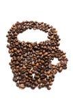 Copo das grões de Coffe Fotos de Stock