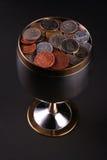 Copo das moedas Fotografia de Stock