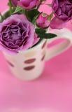 Copo das rosas Imagem de Stock