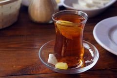 Copo de Azerbaijão para o chá - armuads Imagem de Stock
