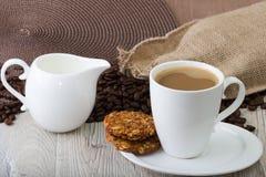 Copo de café branco Imagens de Stock