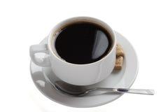 Copo de café branco dois da porcelana Imagens de Stock Royalty Free