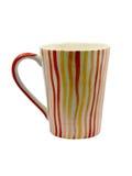 Copo de café colorido isolado no fundo branco Foto de Stock