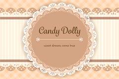 Copo de café com ícone do chantiliy e do caramelo ilustração stock