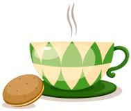 Copo de café com biscoitos ilustração stock