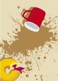 Copo de café com bolo Fotos de Stock