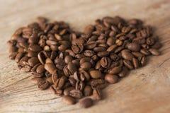 Copo de café com coração Foto de Stock Royalty Free