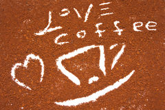 Copo de café com coração Imagens de Stock