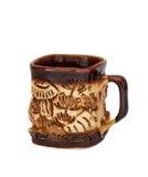 Copo de café da argila Imagem de Stock Royalty Free