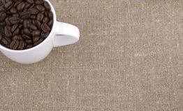 Copo de café da grão Fotos de Stock