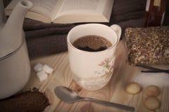Copo de café da manhã de Authum Fotos de Stock Royalty Free