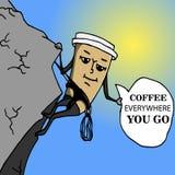 Copo de café do alpinista a ir Fotos de Stock