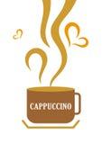 Copo de café do Cappuccino ilustração stock