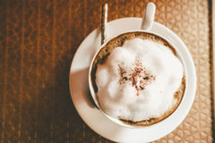 Copo de café do cappuccino Imagem de Stock Royalty Free