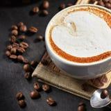 Copo de café do Capuccino Foto de Stock