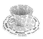 Copo de café do negócio Foto de Stock