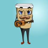 Copo de café a ir charakter Imagens de Stock Royalty Free