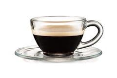 Copo de café isolado no fundo branco imagem de stock