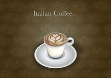 Copo de café italiano ilustração do vetor