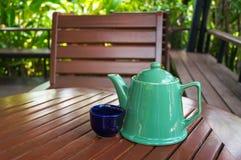 Copo de café na loja Fotografia de Stock