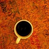 Copo de café na tabela Fotografia de Stock