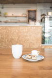 Copo de café no café Fotos de Stock