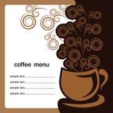 Copo de café no fundo branco Foto de Stock Royalty Free