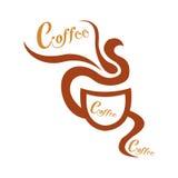 Copo de café no fundo branco Fotografia de Stock Royalty Free