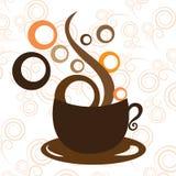 Copo de café no fundo branco Imagens de Stock Royalty Free