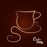 Copo de café no fundo escuro Fotos de Stock Royalty Free