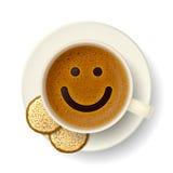 Copo de café para o bom humor Foto de Stock Royalty Free
