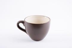Copo de café preto no branco Fotografia de Stock