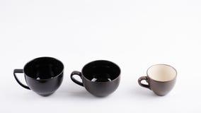 Copo de café preto no branco Imagens de Stock