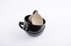 Copo de café preto no branco Imagem de Stock Royalty Free