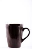 Copo de café preto para o café quente da bebida Foto de Stock