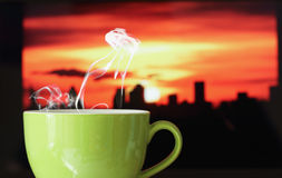 Copo de café quente imagens de stock royalty free