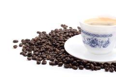 Copo de café sobre o branco Fotografia de Stock Royalty Free