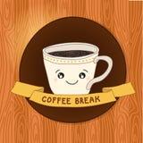 Copo de café tirado mão ilustração do vetor