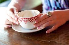 Copo de café vazio Fotos de Stock Royalty Free