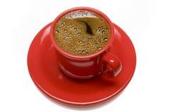 Copo de café vermelho Fotografia de Stock