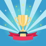 Copo de campeão dourado Foto de Stock Royalty Free