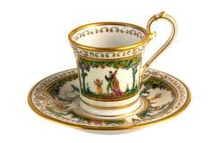 Copo de chá antigo fotos de stock