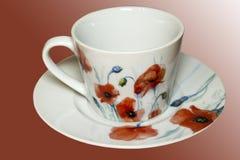 Copo de chá antigo da porcelana imagens de stock