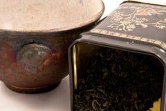 Copo de chá com chá verde Fotos de Stock