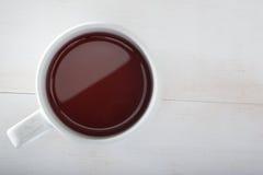Copo de chá de cima de imagem de stock