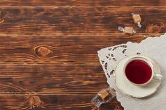 Copo de chá e placa do osso China fino Fotos de Stock