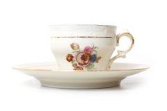 Copo de chá velho foto de stock